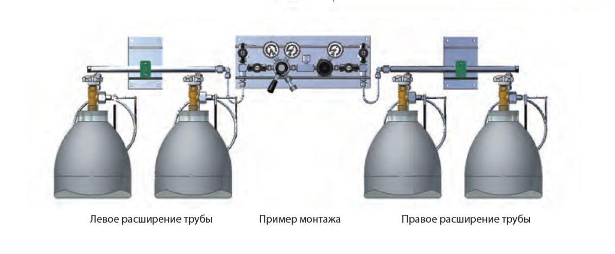 Пример подключения баллонов